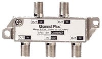 Channel Plus CP2534 4 Way Splitter/Combiner Non-IR Pass