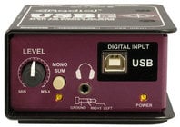 Digital Stereo DI for Laptops with Level Control