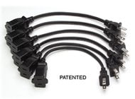 6 AC power extension cords