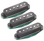 3-Pack of Single-Coil Electric Guitar Pickups in Black