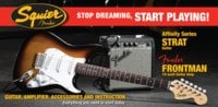 Affinity Series™ Strat® with Fender Frontman® 10G Amp