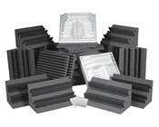 Complete Room Acoustic Treatment Kit in Charcoal Gray