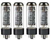 Quartet of EL34 Power Vacuum Tubes