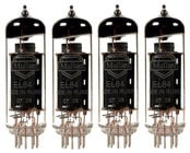 Quartet of EL84 Power Vacuum Tubes