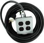 TecNec SSPC-35 35' Heavy Duty 14/3 15 Amp AC Extension Cord with Quad Box