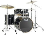 Pearl Drums EXL725-248 5 Piece Drum Kit in Black Smoke Lacquer Finish with 830 Series Hardware