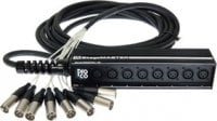 25 ft Low Profile 4-Channel XLR Drop Snake