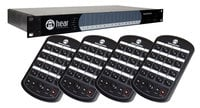 Hear Technologies Hear Back PRO Four Pack, Analog Input Network-Based 16-Channel Personal Monitor Mixer System Package