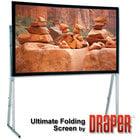 """Draper 241186  161"""" (77.5""""x138.5"""") HDTV Rear Projection Ultimate Folding Screen"""