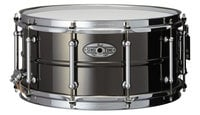 "Pearl Drums STA1465BR 6.5""x14"" SensiTone Beaded Brass Snare Drum in Black"