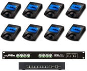 MyMix MIXPACK8 Mix Pack 8 8 myMix Unit Package with 1x IEX16L-A and 1x Power8 Switch
