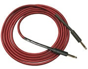 10 ft Cloth Wound Guitar Cable in Black with Red and Yellow Accents