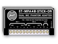 Radio Design Labs ST-MPA48  Stick-On Dual Channel Microphone Phantom Power Adapter