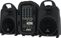 500 Watt 6-Channel Compact Portable PA System with Bluetooth