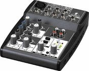 Mixer, 5-Input (1 mic, 2 stereo) 2-Bus with Rotary Control