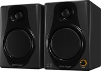 Pair of 40 Watt Bi-Amplified Digital Monitor Speakers with USB Input