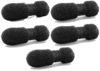 5 Pack of White Foam Windscreens for 4080 Miniature Cardioid Lavalier Microphone