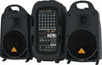 Behringer PPA2000BT PA2000BT 8-Channel 2000 Watt Portable PA System with Bluetooth, Wireless Expandability and Multi-FX Processor