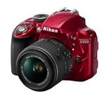 24.2MP D3300 DSLR Camera in Red with AF-S DX NIKKOR 18-55mm f/3.5-5.6G VR II Zoom Lens