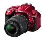24.2MP D5300 DSLR Camera Body in Red