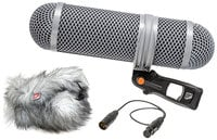 Rycote 010320  Super-Shield Shotgun Microphone Windshield and Shock Mounting Kit, Small