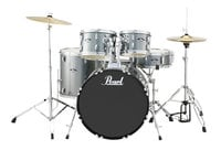 5-Piece Drum Set in Charcoal Metallic with Cymbals and Hardware