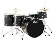Pearl Drums RS525WFC/C 5-Piece Roadshow Series Drum Set in Jet Black with Cymbals and Hardware