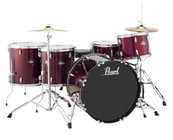 5-Piece Roadshow Series Drum Set in Wine Red with Cymbals and Hardware