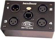 ETS ETS-PA203P InstaSnake Passive Network Audio Snake with (3) Sends and (1) Pigtail Return
