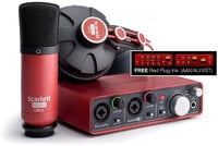Recording Bundle with Scarlett 2i2, Headphones, Condenser Microphone