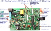 Circuitwerkes AC-1h Card Cage Telephone Hybrid Coupler for AC-12 Rackmount Autocoupler Bay