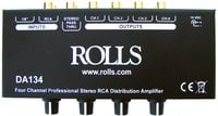 4-Channel Audio Distribution Amplifier with RCA Connectors