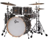 4-Piece New Classic Series Shell Pack in Silver Metallic Sparkle Finish with 10