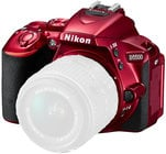 Nikon 1545 24.2MP D5500 DSLR Camera Body with Touchscreen Display in Red