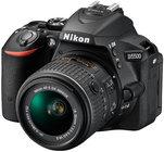 Nikon 1546 24.2MP D5500 DSLR Camera in Black with NIKKOR 18-55mm VRII Lens