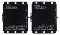 Gefen Inc GTB-UHD2IRS-ELRPOL-BLK 4K Ultra HD ELR-POL Extender with RS-232 and 2-way IR