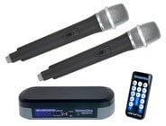 Bluetooth Karaoke System with (2) Wireless Microphones