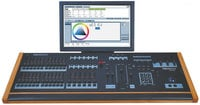 Leprecon XC-350-MONITOR XC-350 Monitor 6 Playback, 24-Fader Lighting Console with Touch-Screen Monitor