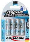 Ansmann 5035442  4 Pack of NiMH MaxE Rechargeable AA Batteries