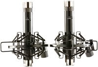 Matched Pair of Multipattern Pencil Condenser Microphones with Shockmounts