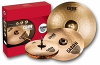 "B8 Pro Performance Cymbal Set - 14"" Medium Hi-Hats, 16"" Medium Crash, 20"" Medium Ride in Brilliant Finish"