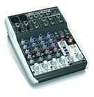 6-Input 2-Bus Compact Mixer with Onboard MP3 Player and Effects