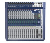16-Input Analog Mixer with Onboard Effects and 2x2 USB Interface
