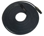 25 Foot Length of 5-Pin DMX, Neutrik Black XLRF to XLRM Cable