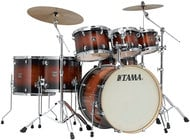 7 Piece Superstar Classic Maple Shell Pack in Mahogany Burst Lacquer Finish