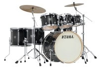 7 Piece Superstar Classic Maple Shell Pack in Transparent Black Burst Finish