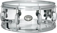 "Limited Edition 6""x14"" Silverstar Mirage Seamless Clear Acrylic Snare Drum"