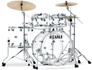 Tama VC52KRZSCI 5 Piece Limited Edition Silverstar Mirage Seamless Clear Acrylic Drum Shell Pack