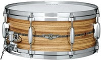 "6""x14"" STAR Solid Shell Zebrawood Snare Drum"