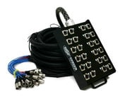 50 ft 16-Channel Fan-to-Box Audio Snake with 8 XLR Returns